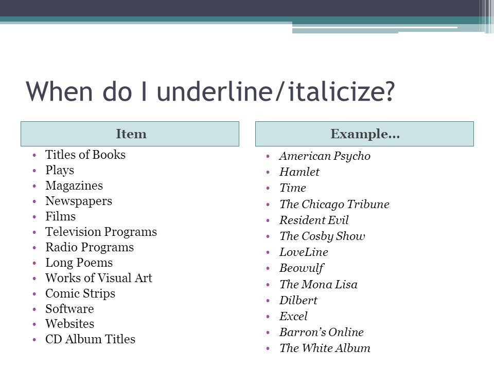 Proper Formatting of Song Titles in Written Documents